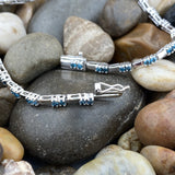 Blue Diamond bracelet set in 925 Sterling Silver
