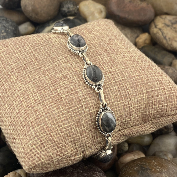 Jasper Bracelet set in 925 Sterling Silver