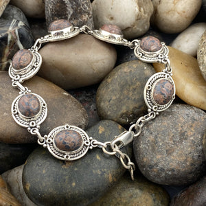 Clearance Jasper bracelet set in 925 Sterling Silver
