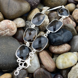 Smokey Quartz bracelet set in 925 Sterling Silver
