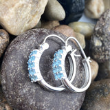 Blue Topaz earrings set in 925 Sterling Silver
