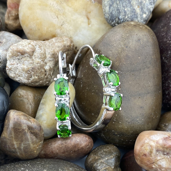 Chrome Diopside Earrings 42