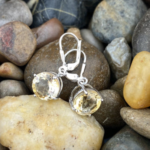 Citrine earrings set in 925 Sterling Silver