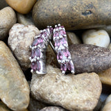 Rhodolite Garnet earrings set in 925 Sterling Silver