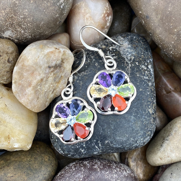 Mixed Gemstone Earrings 7