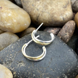 14K Gold Vermeil Finish Hoops earrings set in 925 Sterling Silver