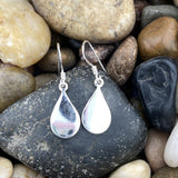 Plain earrings set in 925 Sterling Silver
