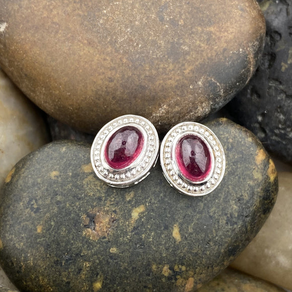 Ruby earrings set in 925 Sterling Silver