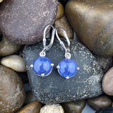 Tanzanite earrings set in 925 Sterling Silver