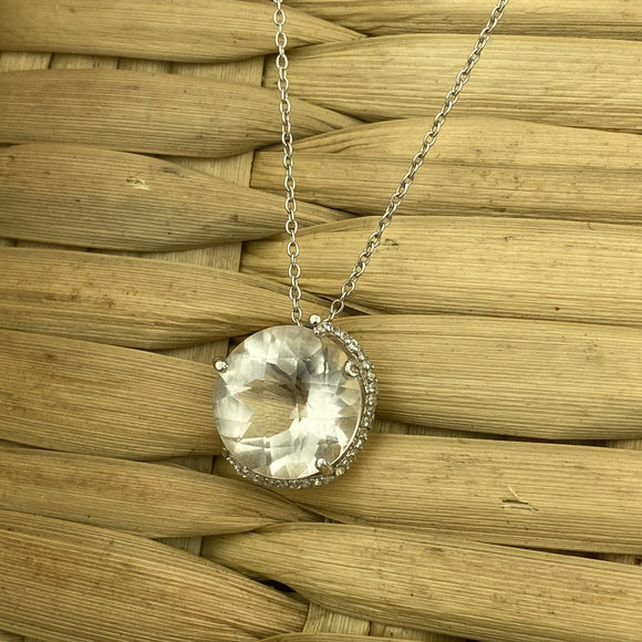 Crystal Quartz Necklace 1