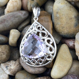 Amethyst pendant set in 925 Sterling Silver