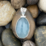 Aquamarine pendant set in 925 Sterling Silver