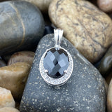Black Onyx pendant set in 925 Sterling Silver