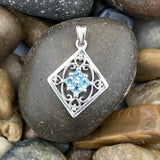 Blue Topaz pendant set in 925 Sterling Silver
