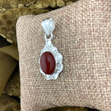 Carnelian pendant set in 925 Sterling Silver