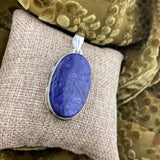 Charoite pendant set in 925 Sterling Silver