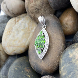 Chrome Diopside Pendant 137 - Silver Street Jewellers