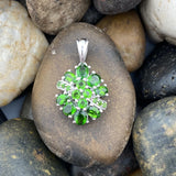 Chrome Diopside pendant set in 925 Sterling Silver
