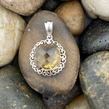 Champagne Quartz pendant set in 925 Sterling Silver