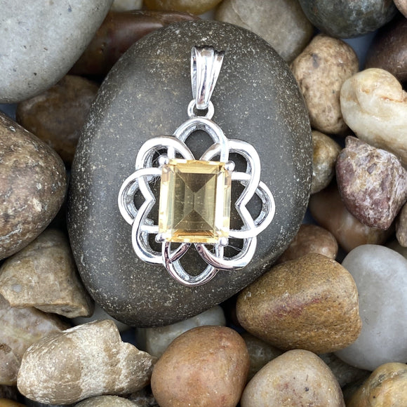 Citrine pendant set in 925 Sterling Silver