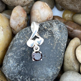 Garnet pendant set in 925 Sterling Silver