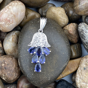 Iolite pendant set in 925 Sterling Silver