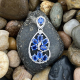 Kyanite and White Topaz pendant set in 925 Sterling Silver