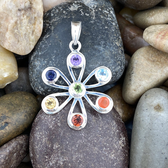 Mixed Gemstone Pendant 5