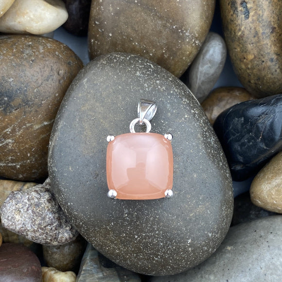 Peach Moonstone Pendant 44