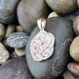Rose Gold Finish Morganite pendant set in 925 Sterling Silver