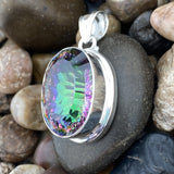 Mystic pendant set in 925 Sterling Silver