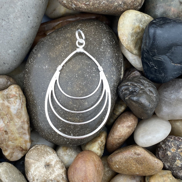 Plain pendant set in 925 Sterling Silver