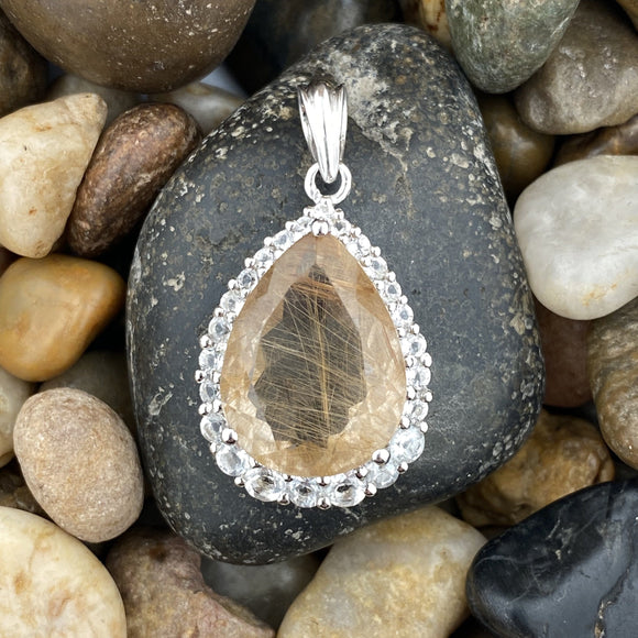 Rutilated Quartz Pendant 13