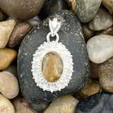 Rutilated Quartz pendant set in 925 Sterling Silver