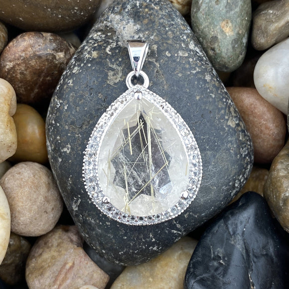 Rutilated Quartz Pendant 36
