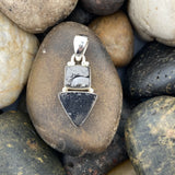 Shungite pendant set in 925 Sterling Silver