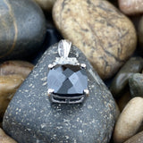 Spinel and White Topaz pendant set in 925 Sterling Silver