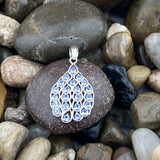 Tanzanite pendant set in 925 Sterling Silver