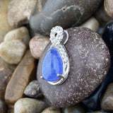Tanzanite and White Topaz pendant set in 925 Sterling Silver