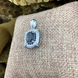 Tourmalated Quartz, Spinel and White Topaz pendant set in 925 Sterling Silver