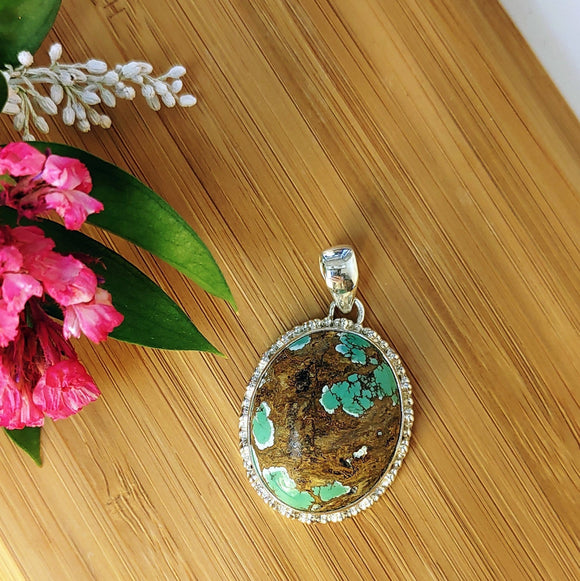Turquoise pendant set in 925 Sterling Silver