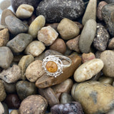 Amber ring set in 925 Sterling Silver