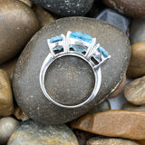 Blue Topaz ring set in 925 Sterling Silver