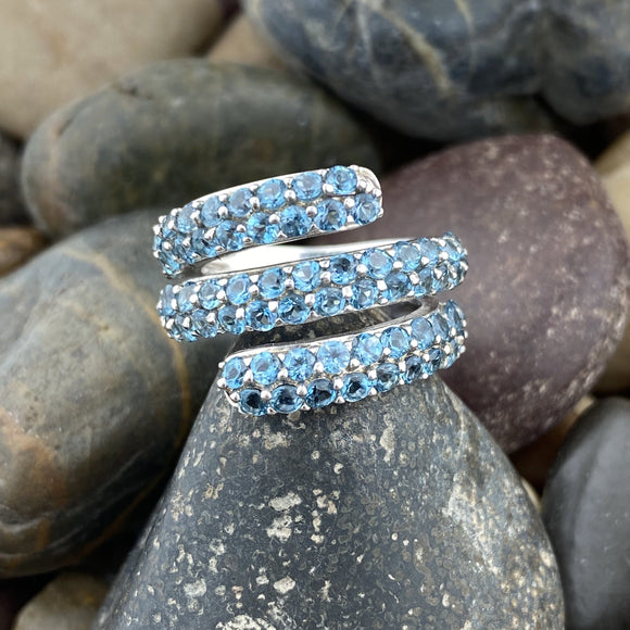 Blue Topaz Ring 5