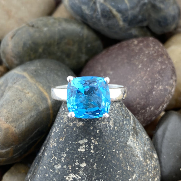 Blue Topaz Ring 7