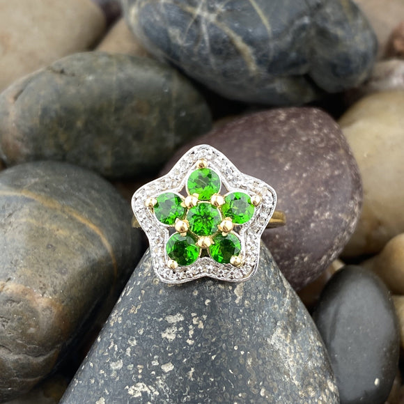 Chrome Diopside Ring 58