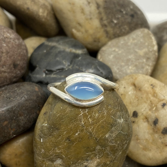 Chalcedony ring set in 925 Sterling Silver