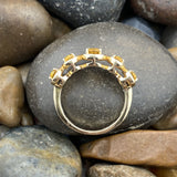 14K Gold Vermeil Finish Citrine ring set in 925 Sterling Silver
