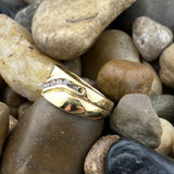 Gold Finish Diamond Ring 1