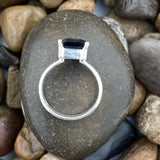 Iolite ring set in 925 Sterling Silver
